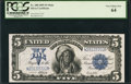 Large Size:Silver Certificates, Fr. 280 $5 1899 Mule Silver Certificate PCGS Very Choice New 64.. ...