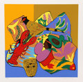 Fine Art - Work on Paper:Print, Hunt Slonem (American, b. 1951). Lobster; Shell Ginger; Ocelot (three works), 1980. Screenprint in colors. 31 x 26-1... (Total: 3 Items)