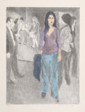 Fine Art - Work on Paper:Print, Raphael Soyer (American, 1899-1987). Passing By (Street Scene #3), circa 1975. Lithograph in colors. 28 x 22 inches (71....