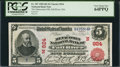 National Bank Notes:Massachusetts, Fall River, MA - $5 1902 Red Seal Fr. 587 The Metacomet NB Ch. # (N)924. ...