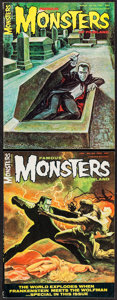 "Movie Posters:Horror, Famous Monsters of Filmland #42 & #43 (Central Publications,1967). Magazines (2) (Multiple Pages, 8.25"" X 11""). Horror.. ...(Total: 2 Items)"