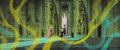 Animation Art:Concept Art, Eyvind Earle Sleeping Beauty Maleficent and Prince PhillipConcept Art (Walt Disney, 1959)....