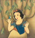 Animation Art:Production Cel, Snow White and the Seven Dwarfs Production Cel Courvoisier Setup (Walt Disney, 1937)....