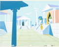 Animation Art:Painted cel background, Ancient Rome Painted Background and Layout Drawing (Hanna-Barbera,c. early 1960s).... (Total: 2 Original Art)