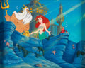 Animation Art:Production Cel, The Little Mermaid - Return to the Sea Ariel, Sebastian, andKing Triton Production Cel, Production Overlay, and Maste...