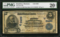 National Bank Notes:Montana, Hamilton, MT - $5 1902 Date Back Fr. 592 The First NB Ch. # (W)9486. ...