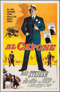 """Al Capone (Allied Artists, 1959). One Sheet (27"""" X 41""""). Crime"""
