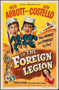 """Abbott and Costello in the Foreign Legion (Universal International, 1950). One Sheet (27"""" X 41""""). Comedy"""