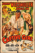 "Movie Posters:Adventure, Captive Girl (Columbia, 1950). One Sheet (27"" X 41""). Adventure....."