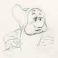 Animation Art:Production Drawing, Snow White and the Seven Dwarfs Bashful Rough AnimationDrawing (Walt Disney, 1937)...
