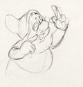 Animation Art:Production Drawing, Snow White and the Seven Dwarfs Doc Rough Animation Drawing(Walt Disney, 1937)....