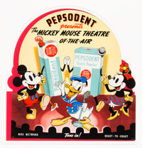 The Mickey Mouse Theater of the Air Large Theater/Store Display (Walt Disney/Pepsodent, 1938)