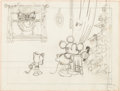 Animation Art:Production Drawing, Mickey's Orphans Minnie Mouse Layout Drawing (Walt Disney,1931)....