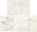 Animation Art:Production Drawing, Mother Goose Goes Hollywood Oliver Hardy Animation DrawingGroup of 3 (Walt Disney, 1938).... (Total: 3 )