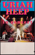 "Movie Posters:Rock and Roll, Uriah Heep Lot (1970s). Concert Window Card & Stock ConcertWindow Card (14"" X 22""). Rock and Roll.. ... (Total: 2 Items)"