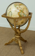 Decorative Arts, Continental, A Terrestrial Globe on Louis XVI-Style Carved Giltwood Stand. 34inches high x 24 inches wide (86.4 x 61.0 cm). ...
