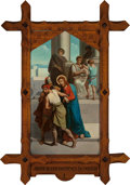 Mainstream Illustration, Continental School (20th Century). Jesus is Condemned to Death(Station of the Cross I). Oil on canvas. 62 x 36 in.. ...