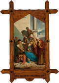 Mainstream Illustration, Continental School (20th Century). Jesus Falls the First TimeUnder His Cross (Station of the Cross III). Oil on canvas...