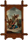 Mainstream Illustration, Continental School (20th Century). Jesus Falls the Third Time(Station of the Cross IX). Oil on canvas. 62 x 36 in.. ...