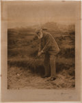 Golf Collectibles:Autographs, 1902 Old Tom Morris Signed Photographic Print....