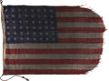 Military & Patriotic:WWII, Omaha Beach D-Day Flag Flown on LCT Landing Craft....
