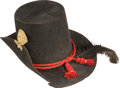 "Militaria:Uniforms, Excellent Civil War 1858 Pattern Artillery Enlisted Man's ""Hardee"" Hat...."