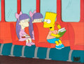 Animation Art:Production Cel, The Simpsons Bart with Sherri and Terri Production Cel (Fox,1990)....