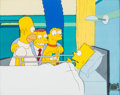 Animation Art:Production Cel, The Simpsons Homer, Marge, Maggie, and Bart Production Cel(Fox, 1991)....