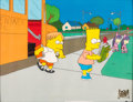 Animation Art:Production Cel, The Simpsons Martin and Bart Production Cel (Fox, 1990)....