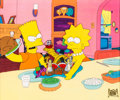 Animation Art:Production Cel, The Simpsons Bart and Lisa Production Cel (Fox, 1990)....