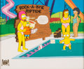 Animation Art:Production Cel, The Simpsons Marge and Maggie Production Cel (Fox, 1991)....