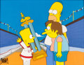 Animation Art:Production Cel, The Simpsons Bart, Nelson, and Homer Production Cel (Fox,1991)....