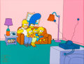 "Animation Art:Seriograph, The Simpsons ""Bart-o-Lounger"" Sericel (Fox, 1994)...."