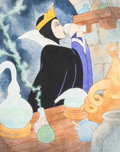 Animation Art:Production Drawing, Snow White and the Seven Dwarfs Evil Queen Story BookIllustration (Walt Disney, c. 1990s)....