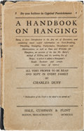 Books:Americana & American History, [Clarence Darrow]: Capital Punishment Presentation Book....