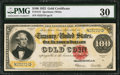 Large Size:Gold Certificates, Fr. 1215 $100 1922 Gold Certificate PMG Very Fine 30.. ...