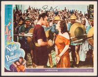 "A Night in Paradise (Universal, 1946). Autographed Lobby Card (11"" X 14""). Comedy"