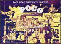 Poco with Leon Russell at the Terrace Ballroom & Other Lot (Tape Head Company, 1970). Concert Window Cards (2) (12.2...
