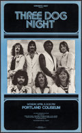 "Movie Posters:Rock and Roll, Three Dog Night Concert Poster Lot (1970s). Concert Window Cards(2) (13.25"" X 21.75"" & 14"" X 22.5""). Rock and Roll.. ...(Total: 2 Items)"