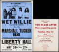 "Movie Posters:Rock and Roll, Wet Willie at Liberty Hall & Others Lot (Liberty Hall, 1973).Window Cards (3) (14"" X 22"", 11"" X 14"", 17"" X 22""). Rock and R...(Total: 3 Items)"