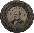 Political:Ferrotypes / Photo Badges (pre-1896), John Bell: Large Back-to-Back Doughnut Ferrotype....