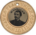 Political:Ferrotypes / Photo Badges (pre-1896), McClellan & Pendleton: Back-to-Back Ferrotype....