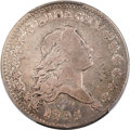 Early Half Dollars, 1795 50C 2 Leaves, Y Over Star, O-121, T-2, High R.4, Fine 12PCGS....