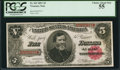 Large Size:Treasury Notes, Fr. 363 $5 1891 Treasury Note PCGS Choice About New 55.. ...
