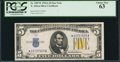 Small Size:World War II Emergency Notes, Fr. 2307* $5 1934A North Africa Silver Certificate. PCGS Choice New 63.. ...