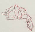 Animation Art:Production Drawing, Snow White and the Seven Dwarfs Grumpy Rough AnimationDrawing (Walt Disney, 1937)....