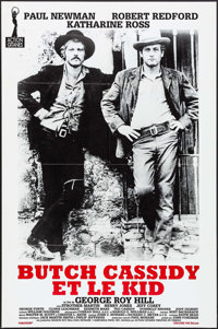 "Butch Cassidy and the Sundance Kid (Action Gigantes, R-1990s). French Half Grande (31"" X 46.5""). Western"