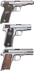 Handguns:Semiautomatic Pistol, Lot of Three Semi-Automatic Pistols.... (Total: 3 Items)