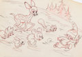 Animation Art:Production Drawing, Little Hiawatha Publicity Drawing (Walt Disney, 1937)....
