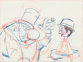Animation Art:Production Drawing, Mother Goose Goes Hollywood W. C. Fields and CharlieMcCarthy Layout Drawing (Walt Disney, 1938)....
